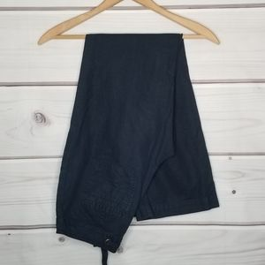 Banana Republic Ryan Navy Linen Pants Size 2